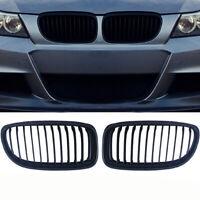 2X Gril Grill Rein Rein noir pour BMW E90 E91 LCI 325i 328i 335i 4D 09-11