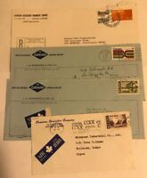Lot of 4 Canada Envelopes with 1971/1973 Postage Stamps - Canada Air Mail