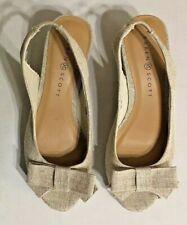 Karen Scott Canvas Wedge Slingback Open-Toe, Alloraa Women's Sandal,Taupe,6.5M