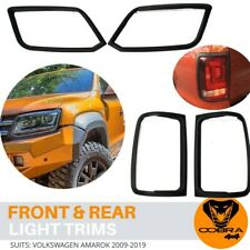 Matte Black Head and Tail Light Trim Covers suits Volkswagen Amarok 2009-2019