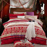 Stripes Red Quilt/Doona/Duvet Cover Set Single/Double/Queen/King Bed Cotton