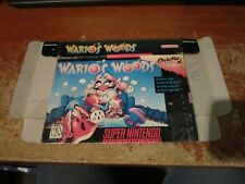 SNES Wario's Woods (Super Nintendo Entertainment System, 1994) BOX  ONLY