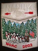 OA NANUK LODGE 355 WESTERN ALASKA 523 549 2002 NOAC 2-PATCH FLAP SMY DELEGATE