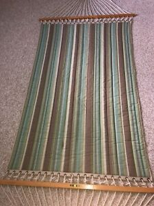 Large Sunbrella Fabric Pawleys Island Quilted Hammock 2 Person 450# Handcrafted
