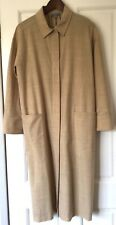 CoS size 10 36 wool mix unlined coat dress natural straw sand button lightweight