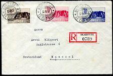 NORWEGEN 1930 159-161 NORDKAP AUSGABE auf R-BRIEF (D4495