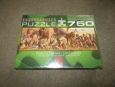 NEW!! Eurographics Dinosaurs Panographic 750 Piece Jigsaw Puzzle, Haruo Takino