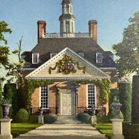 Postcard VA Governor's Palace Garden Colonial Williamsburg Inc Runca 1951