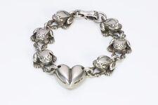 Barry Kieselstein-Cord 1997 Sterling Silver Frog Heart Bracelet