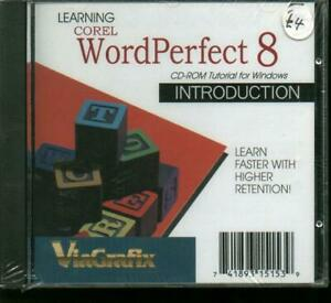 Learn Corel WordPerfect 8 Introduction, PC Software Tutorials, New & Sealed