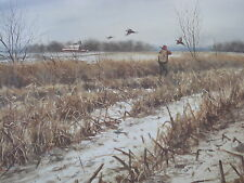 TWO OF EM  A PHEASANT HUNTING PRINT BY NOEL DUNN
