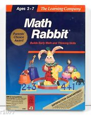 NEW* DOS Math Rabbit by The Learning Company *1980's VINTAGE SOFTWARE* *NOS*
