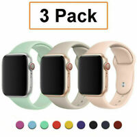 3 Pack For Apple Watch 6 5 4-1 SE 38/40/42/44mm iWatch Silicone Sport Band Strap