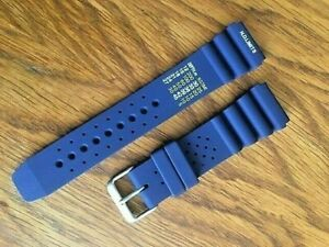 NEW Divers N.D limits silicone watch strap ,flexible subtle quality. CITIZEN