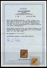 Deutsch-Südwestafrika Nr: 9 mit Stempel 29.5.00 Attest BPP KW = 1300,- €