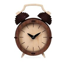 Wood Retro Classic Table Clock Assembly Kit Desk Bedside Homeoffice CLOCK Korean