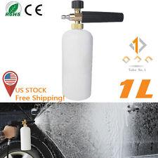 Adjustable Snow Foam Lance Washer Car Wash Gun Soap Pressure Washer Bottle 1L TO