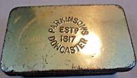 Vintage Advertising - Parkinson's of Doncaster 12cm Goldtone Sweet Tin - England