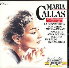 Maria Callas: Live Recordings, 1957-1963 (Vol. 1); Laserlight 1990