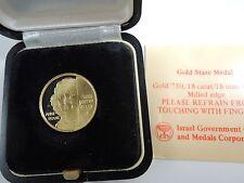 Israel 1988 Remember Holocaust - Anne Frank State Medal 4.4g Gold 18k