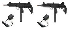 Refurbished IWI UZI Airsoft AEG Duelers Kit. 2x AEG Rifles, Chargers, BBs