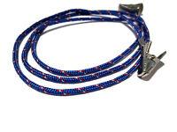Dark Blue and Maroon Clip Paracord Eyeglass Holder, Clip Eyeglass Lanyard, 316