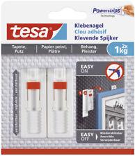 Tesa Klebenagel für Tapeten und Putz verstellbar, Aufhänger bis 1 kg 2 Stück