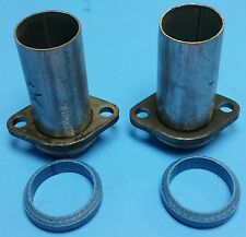 "64-73 FORD MUSTANG/FALCON SBV8 EXHAUST MANIFOLD DOWN PIPE STUBS 2""OD W/DONUT USA"