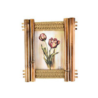 """5x7"""" Vintage Photo Frame Bamboo Wooden Picture Frame"""