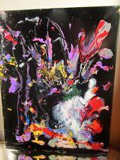 MUSK YAI ABSTRACT SIGNED ORIGINAL 16x20 2015 CANVAS PAINTING MODERN ART 1ofakin