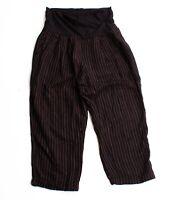 Hei Hei Anthropologie Black Pinstripe Crop Maternity Pants Size S Small