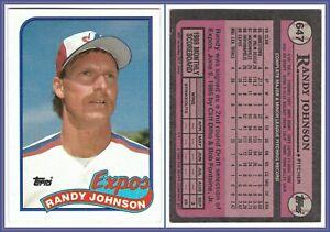 1989 Topps #647 Randy Johnson Rookie Card RC Mint Major League Baseball Expos