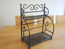 Handmade Iron French Style Bakers Stand Kitchen Rack Bathroom Shelf 003