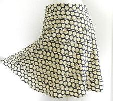 Marc Jacobs Skirt 100% Silk Knee Length Fit-Flared Polka Dot Size 8