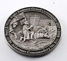 PAUL E WELLS GEORGIA KNIGHTS TEMPLAR GRAND COMMANDER 2007-2008 MASON COIN TOKEN