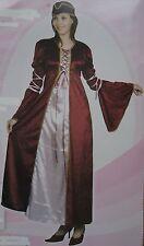 LADY MEDIEVALE COSTUME DONNA WOMANS Tudor Costume