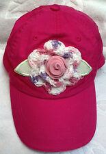 NEW BASEBALL CAP HAT w/ HANDMADE ROSE 8 9 10 11 12 13 14 YEARS GIRLS TEEN PINK