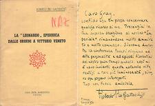 ROBERTO PIO GATTESCHI LEONARDO DALLE ORIGINI A VITTORIO VENETO AUTOGRAFO GRAY