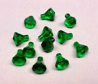 x12 NEW Lego Rock 1 x 1 Jewel Treasure Gem 24 Facet Trans Green