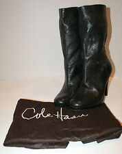 Cole Haan Womens Kennedy Snake Print Black Leather Short Boots Shoe 10 B NEW8
