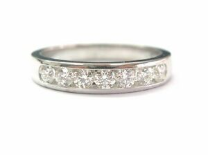 Hearts On Fire 18Kt Round Cut Diamond Channel Set Band .75CT G Color