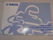 YAMAHA XV1900A XV1900 MIDNIGHTSTAR 2006 INSTRUKTIEBOEKJE OWNER MANUAL