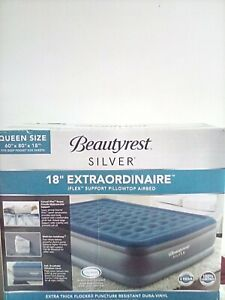 Beautyrest Silver Extraordinaire Raised Air Mattress Size Full w/builtin pump