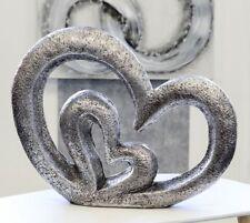 Deko-Skulpturen aus Silber mit Herzen- & Liebe-Thema