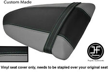 GREY AND BLACK VINYL CUSTOM FOR KAWASAKI NINJA ZX6R 600 05-06 REAR SEAT COVER