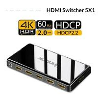 HDMI Switch 2.0 UHD 4K 60Hz RGB 4:4:4 HDCP 2.2 HDR Out HDTV Mi Xbox Projector