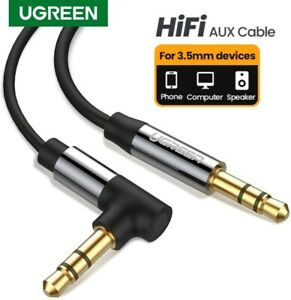 UGREEN AUX 3.5mm Right Angle CORD PC MP3 CAR Male to Male Stereo Audio Cable