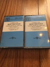 Ludwig Van Beethoven Violin & Piano Works, VOL. I NO. 1 & 2 Cassette Ships N 24h