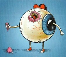 Eyeball Lowbrow Art Ice Cream Pop Surrealism Sticker Decal Retro Rockabilly Rod