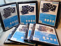Leuchtturm Münztableaus blau 2er Pack (S-Format) zur Auswahl